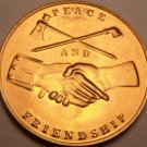 Large Unc George Washington Presidential Medallion~Peace And Friendship~Free Shi