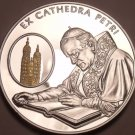 Rare Silver & Gold Proof Malta 2004 100 Liras~2,988 Minted~Chair Of St.Peter~F/S