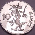 Rare Cameo Proof Solomon Islands 1982 10 Cents~Sea Spirit~1,368 Minted~Free Shi
