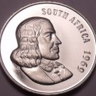 Rare South Africa 1969 Proof 20 Cents~12,000 Minted~Protea Flower~Free Shipping