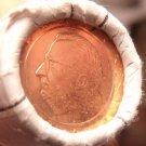 Gem Unc Original Roll (50) Belgium 2000 2 Euro Cents~New Millenium~Brussels~Fr/S