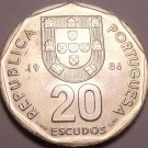 Gem Unc Portugal 1986 20 Escudos~1st Year Ever Minted~Free Shipping