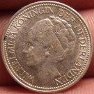 Au Silver Netherlands 1939 25 Cents~Wilhelmina I~Free Shipping