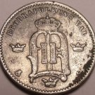 Scarce Silver Sweden 1874-ST 10 Ore~Free Shippng*