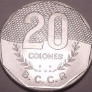 Huge Gem Unc Costa Rica 1983-V 20 Colones~1st Year Ever~Fantastic~Free Shipping
