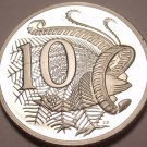 Cameo Proof Australia 1986 10 Cents~Lyrebird~67,000 Minted~Free Shipping