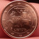Gem Unc Lithuania 2015 5 Euro Cents~Knight On a Horse~Free Shipping