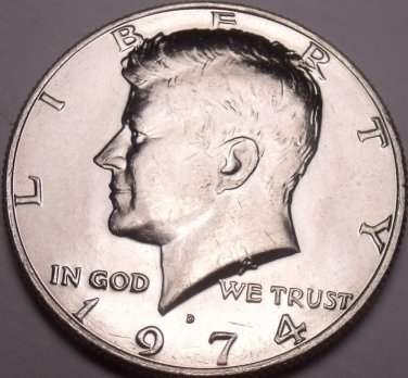 United States Unc 1974-D Kennedy Half Dollar~Free Shipping