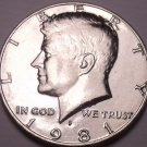 United States Unc 1981-P Kennedy Half Dollar~Free Shipping
