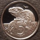Rare Gem Cameo Proof New Zealand 1992 5 Cents~Only 9,000 Minted~Free Shipping