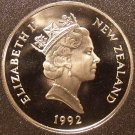 Rare Cameo Proof New Zealand 1992 50 Cents~Only 9,000 Minted~HMS Endeavour~Fr/S