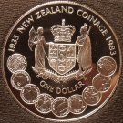 Rare Silver Proof New Zealand 1983 Dollar~35,000 Minted~50 Years Of Coinage~Fr/S