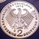 Gem Cameo Proof Germany 1975-D 2 Marks~Konrad Adenauer~43k Minted~Free Shipping