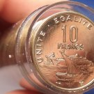 Rare Gem Unc Roll (40 Coins) Djibouti 1999-A 10 Francs~Only 1,800 Minted~Fr/Ship