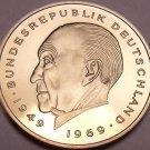 Gem Cameo Proof Germany 1975-G 2 Marks~Konrad Adenauer~43k Minted~Free Shipping