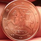 Gem Unc Lithuania 2015 2 Euro Cents~Knight On a Horse~Free Shipping