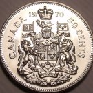 Proof Canada 1970 50 Cents~645,869 Minted~We Have Canadian Coins~Free Shipping