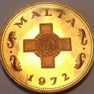 Rare Cameo Proof Malta 1972 Cent~1st Year~The George Cross~13k Minted~Free Ship