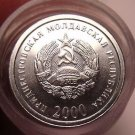 Gem Unc Roll (50 Coins) Transnistria 2000 1 Kopeek~1st Year For Any Coinage~Fr/S