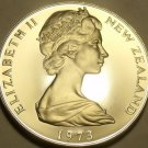 Huge Rare Cameo Proof New Zealand 1973 50 Cents~H.M.S. Endeavour~8k Minted~Fr/S