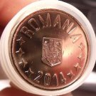 Gem Unc Roll (35 Coins) Romania 2014 50 Bani Coins~Edge Incription~Free Ship