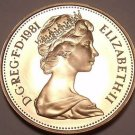 Cameo Proof Great Britain 1981 Penny~Collect The Best~100,000 Minted~Free Ship