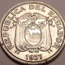 Gem Unc Ecuador 1937-HF 5 Centavos~Excellent~More Then 75 Years Old~Free Ship