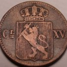 Scarce Norway 1867 Half Skilling~1st Year Ever Minted~Free Shipping
