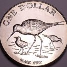 Rare Gem Unc New Zealand 1985 Dollar~60,000 Minted~Black Stilt~Excellent~Free Sh