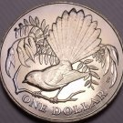 Rare Gem Unc New Zealand 1980 Dollar~115,000 Minted~Fantail Bird~Excellent~Fr/Sh