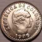 Gem Unc Colombia 1976 10 Centavos~Head Of Santander~Free Shipping
