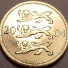 Gem Unc Estonia 2004 50 Senti~3 Leopards Stacked On Each Other~Free Shipping