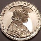 Rare Silver Proof Austria 1969 50 Schilling~Death Of Maximillian~55k Minted~FS