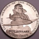 Gem Unc Marshall Islands 1990M 5 Dollars~The Heroes Of The Battle Of Britain~F/S