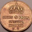 Unc Sweden 1958-TS 2 Ore~Scarce Coin~Rular Gustaf VI~Free Shipping