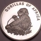 Silver Proof Uganda 2003 1,000 Shillings~Gorilla Eating~Fantastic~Free Shipping