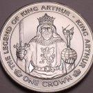 Rare Gem Unc Isle Of Man 1996 Crown~The Legend Of King Arthur~30,000 Minted~Fr/S