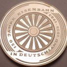Cameo Proof Germany 1985-G 5 Mark~150th Anniversary German Railroad~Free Shippng