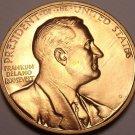 Large Gem Unc Franklin Delano Roosevelt In Memoriam Medallion~Awesome~Free Ship