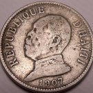 Haiti 1907-W 20 Centimes~1st Year Ever Minted This Type~Free Shipping*