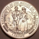 Gem Unc Isle Of Man 1989 Crown~Mutiny On The Bounty~Bligh And Betham~Free Ship