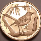 Rare Proof Cayman Islands 1974 Cent~Great Caiman Thrush~Only 30,000 Made~Fr/Ship