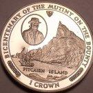 Gem Unc Isle Of Man 1989 Crown~Mutiny On The Bounty~Pitcairn Island~Free Ship