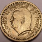 Unc Monaco 1945-A Franc~Last Year Ever Minted~Free Shipping