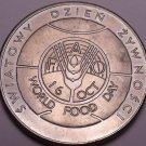 Unc Poland 1982-MW F.A.O. Issue 50 Zlotych~Imperial Eagle~World Food Day~Fr/Ship