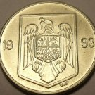 Unc Romania 1993 10 Lei~1st Year Ever~Eagle With Cross In Its Mouth~Free Ship*