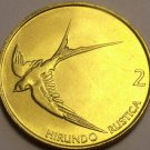 Unc Slovenia 2000 2 Tolarja~Barn Swallow In Flight~Free Shipping*