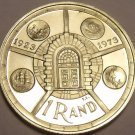 Rare Silver Proof South Africa 1974 Rand~Anniversatry Of Pretoria Mint~Fr/Ship