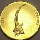 Unc Slovenia 2000 5 Tolarja~Head & Horns Of Ibex~Free Shipping*