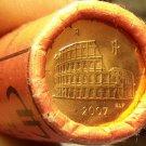 Gem Unc Original Roll (50) Italy 2007 5 Euro Cents~The Roman Colosseum~Free Ship